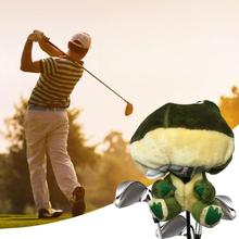 Outdoor Sports Golf Accessories Soft Cartoon Animal Club Head Protective Cover Equipment Novel and cute design frog-shape