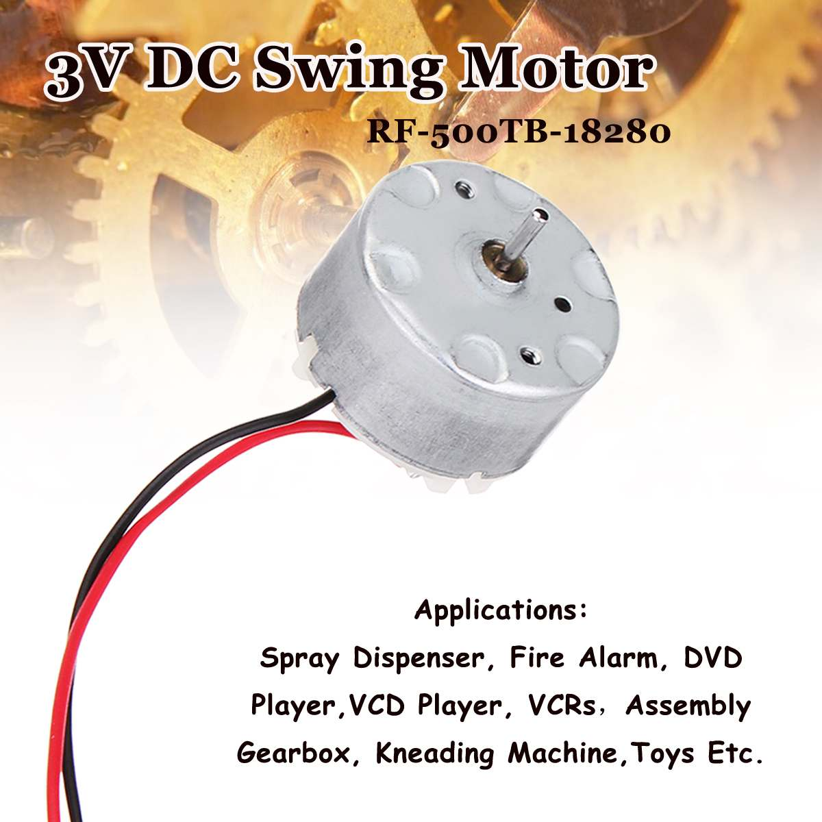 RF-500 DC 3V-6V 2800RPM Motor Cradle Swing Mini Electric DC Motor RF-500TB-18280 title=