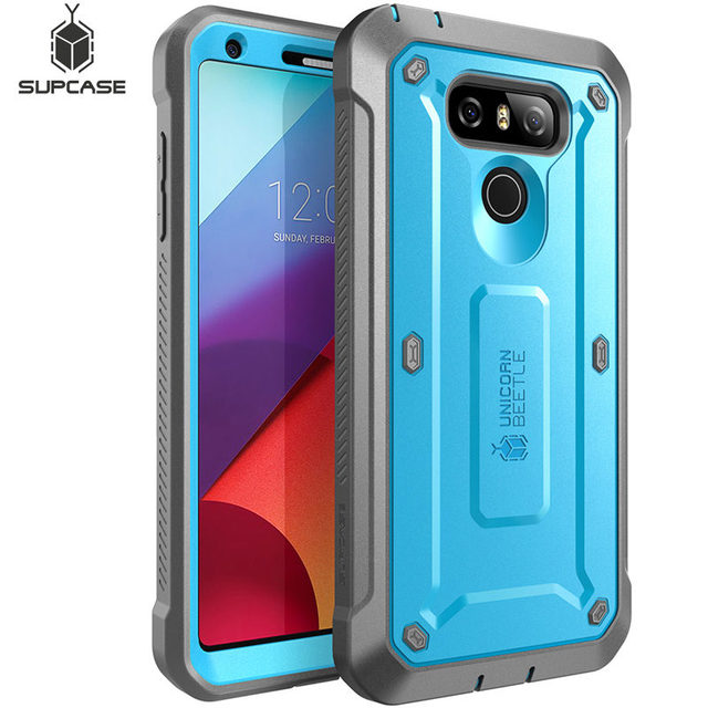 SUPCASE For LG G6 Case UB Pro Full Body Rugged Holster Clip Protective Case with Built in Screen Protector For LG G6 Plus Cover