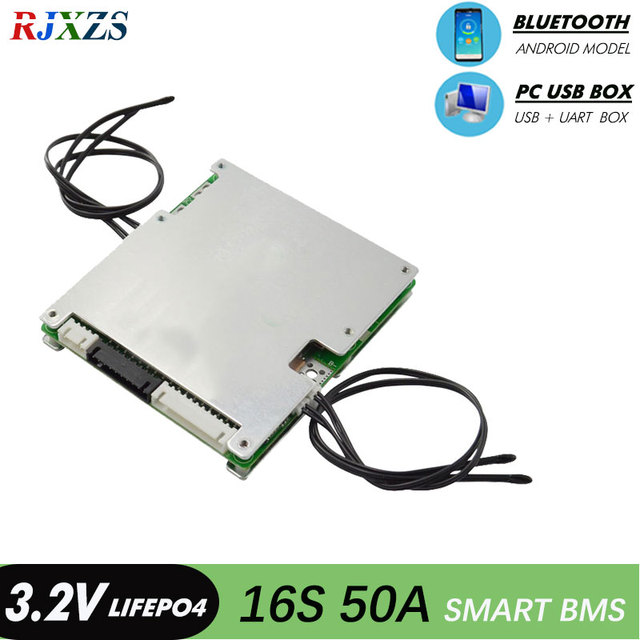 16S 50A 2017 new Lifepo4 smart bms pcm with android Bluetooth app UART correspondence bms wi software (APP) monitor