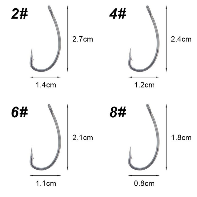 Carp Fishing Hair Rig Quick Lock Lead Clip Ready Made Carp Rig Leadcore Tied Curve Shank Fishing Hooks Size 2# 4# 6# 8#