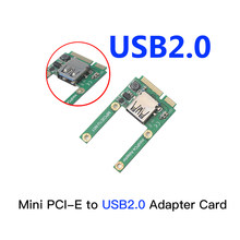 Mini PCI-e a USB2.0 PCI Express tarjeta de adaptador Mini PCI-e a USB 2,0 tarjeta de expansión para Notebook adaptador Bluetooth, USB,(China)