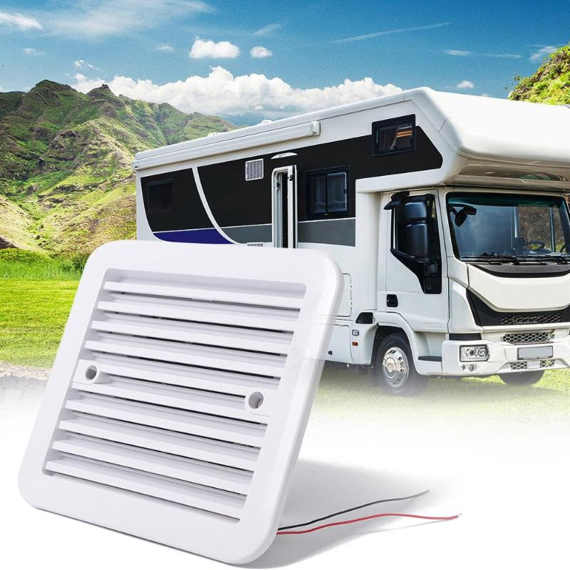 VODOOL RV Car Side Air Ventilation 12V Fridge Vent With Fan For RV Trailer Caravan White Styling Exhaust Fans System Accessories
