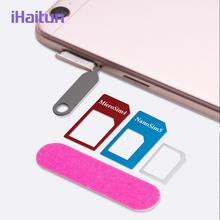 iHaitun 5in1 SIM Card Adapter For iPhone 4 5 Mobile Phone