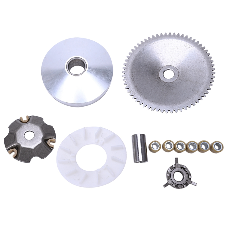 Gy6 49Cc 50Cc Chinese Scooter Moped Complete Variator Kit Front Clutch Drive Pulley With Roller Weights 139Qmb 139Qma
