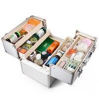 Новый аптечка для первой помощи, алюминиевый Портативный Медицинский аварийный набор, набор для выживания в результате землетрясения с дво