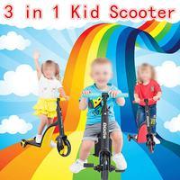 3 в 1 баланс езды на велосипеде на автомобилях 3 Колеса детский скутер детский три колеса баланс велосипед детский скутер трехколесный велос