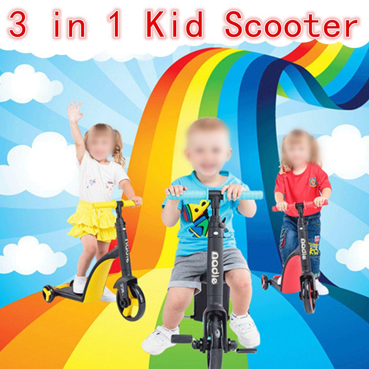 3 en 1 equilibre vélo tour sur voitures 3 roues enfants Scooter enfants trois roues Balance vélo bébé Scooter Tricycle vélo tour sur jouets