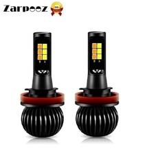 Zarpooz X5 автомобиля белого и желтого цвета, двухцветный светодиодный фонарь H1 H3 H4 H7 H8 H10 H27 HB4 20 Вт 720 мл универсальные противотуманные лампы 2 шт./компл.