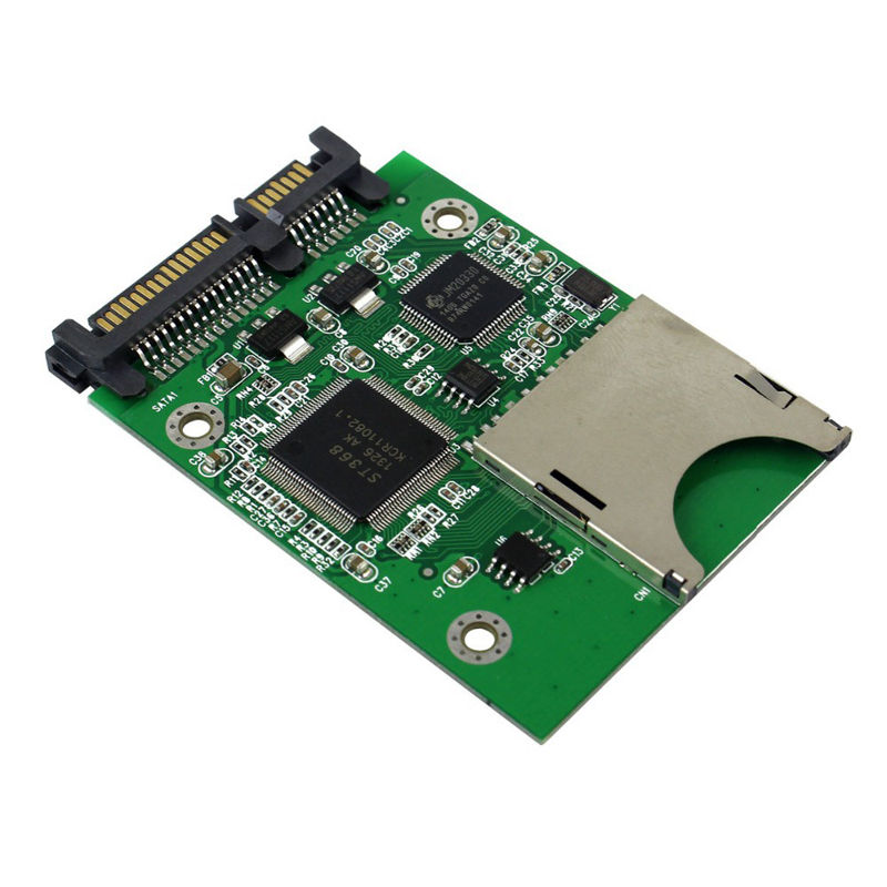 Sd Sdhc Mmc Memory Card To Sata 22Pin Ssd Hdd Hard Disk Drive Sd Card To Sata Adapter