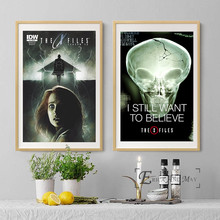 I Want To Believe X File Movie Vintage Poster Prints Oli Painting On Canvas Wall Art Murals Pictrues For Living Room Decoration
