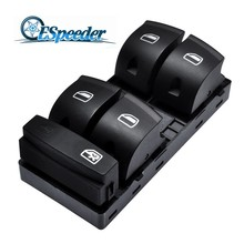 ESPEEDER Power Master Window Switch Electric Panel For Audi A3 Sportback A6 C6 Sedan Q7 4F0959851 Black