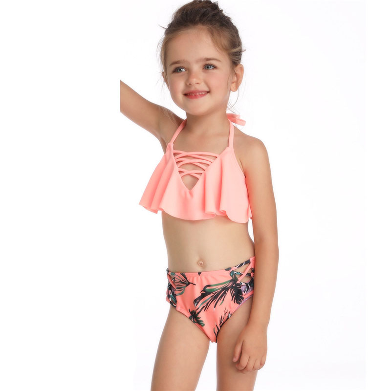 Mom Baby Bikini Set Mother Daughter Swimsuit Outfits Mid Waist Bathing Suit Sexy Women 2019 Summer Family Matching Clothes