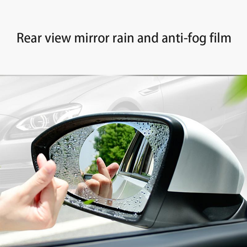 Image 4 - Anti Fog Car Mirror Window Clear Film Membrane Anti glare Waterproof Rainproof Car Sticker Car Accessories 2PCS/Set-in Mirror & Covers from Automobiles & Motorcycles