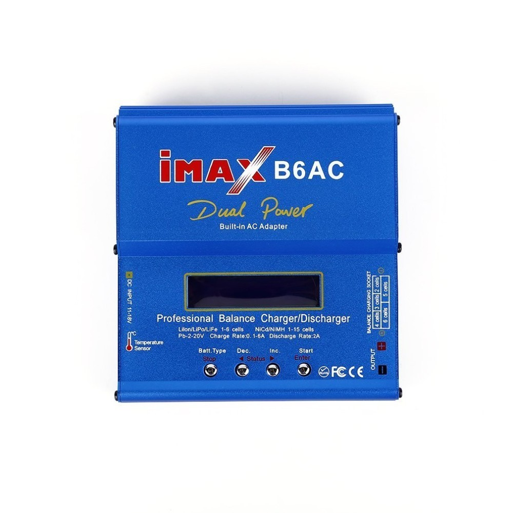 Professional iMAX B6AC Intelligent Compact Balance Charger Discharger US Plug T Slots AC To DC Adaptor