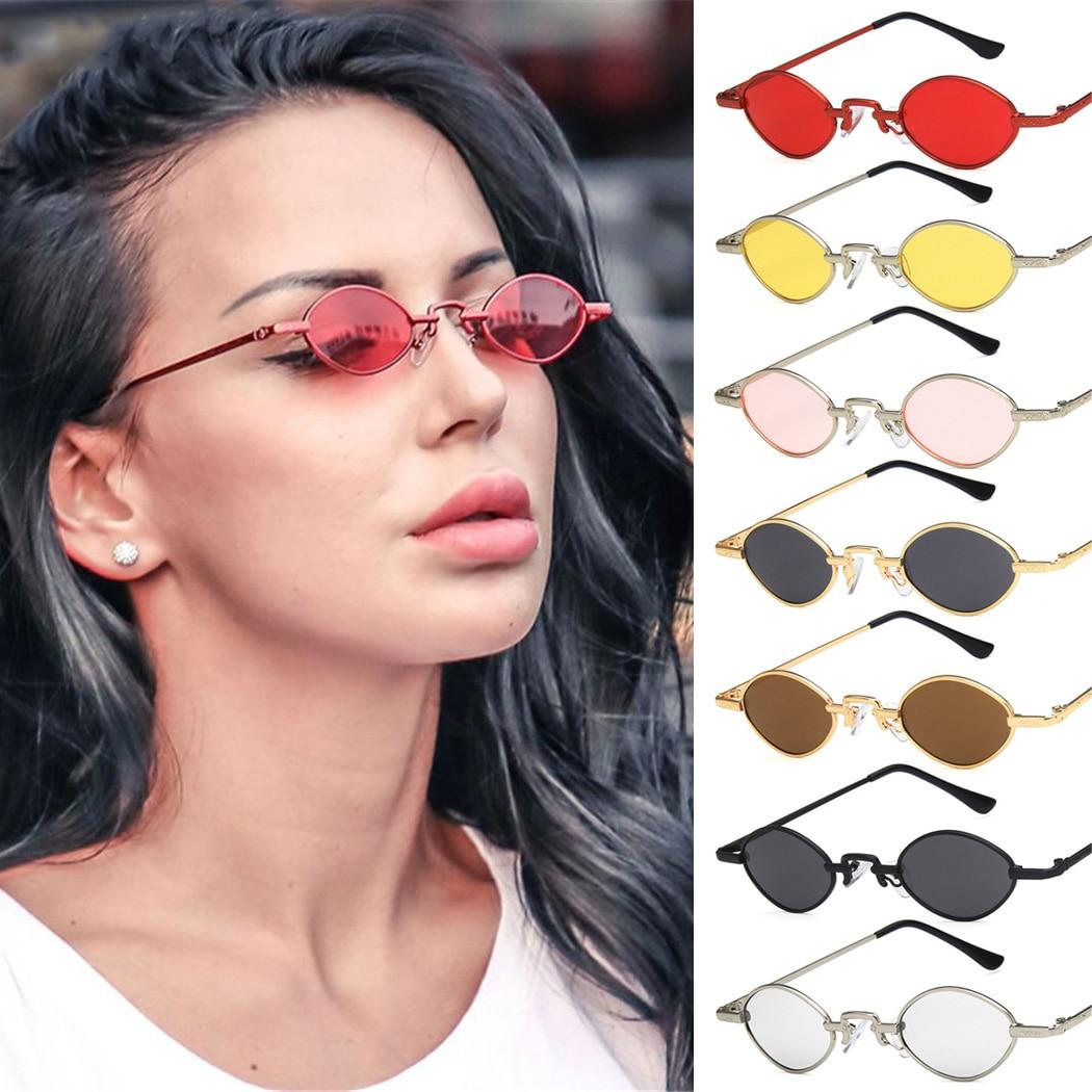 2019 Vintage Frauen Kleine Sonnenbrillen Brillen Brillen Metall Rahmen Dame Luxus Retro Metall Sonnenbrille Für Weibliche Spiegel Uv400 Attraktive Designs;
