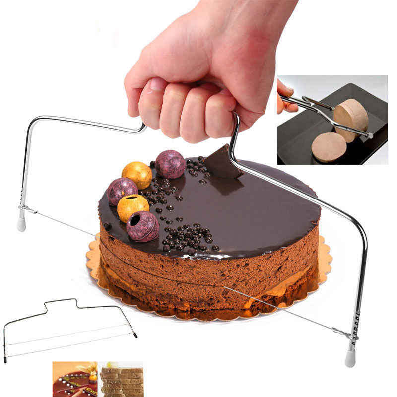 Wire Slicer Stainless Steel Cake Cutter Bread Cutting Leveller Decorating Divider Slicer Tool