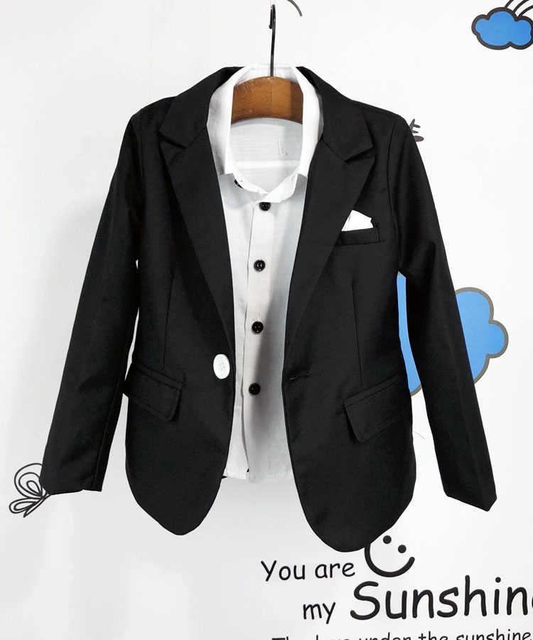 Kid Casual Blazers Pak Voor Baby Boy Zwart En Rood Kind Jas Kinderen Jurk Jas Kostuum Voor Jongen Blauw Graduation pak