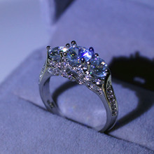 Zircon Diamond Sapphire Ring Jewelry for Women S925 Sliver Anillos De Bizuterias Bague Etoile Diamante Rings Wholesale Gemstone