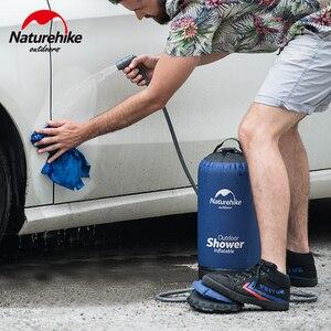Image 5 - Naturehike 11L Outdoor Baden Wasser Taschen Outdoor Aufblasbare Dusche Druck Duschen Tragbare Camp Dusche Waschen Autos Werkzeuge