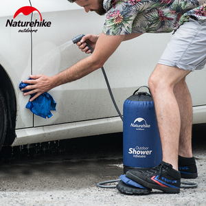 Image 5 - Naturehike bolsas de agua de 11L para baño al aire libre, ducha inflable para exterior, ducha a presión, portátil, herramientas para autos