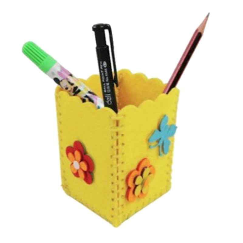 لطيف DIY الحرفية لغز كيت لطيف الإبداعية الاطفال الحرفية لعبة اليدوية حاوية القلم حامل القلم الرصاص الطفل الاطفال التعليمية مضحك اللعب