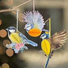 3pcs Hanging Paper Party Decoration Honeycomb Birds Tiki Easter Spring Wedding Birthday Garden Tea Supplies