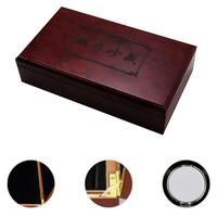 Vintage Retro Storage Box Organizer Commemorative Coin Holder Wooden Stationery Case Box Gift Multifunctional Household Gift