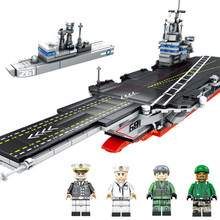 716pcs Aircraft Carrier Building Blocks Military Ship 3D Educational Model Toys birthday Gift for Childrens