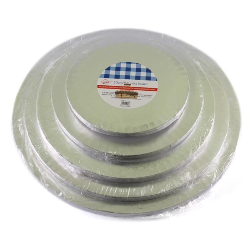 Round Cake Holder Baking Tools Convenient Cake Display Board Stand Holder Strong Base Transfer Board Baking Accesories