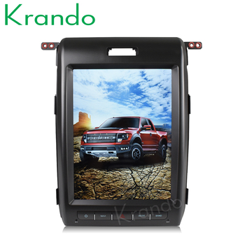 """Krando Android 8.1 12.1"""" tesla style Vertical screen car radio gps navigation for Ford F150 F-150 2009-2014 multimedia system"""