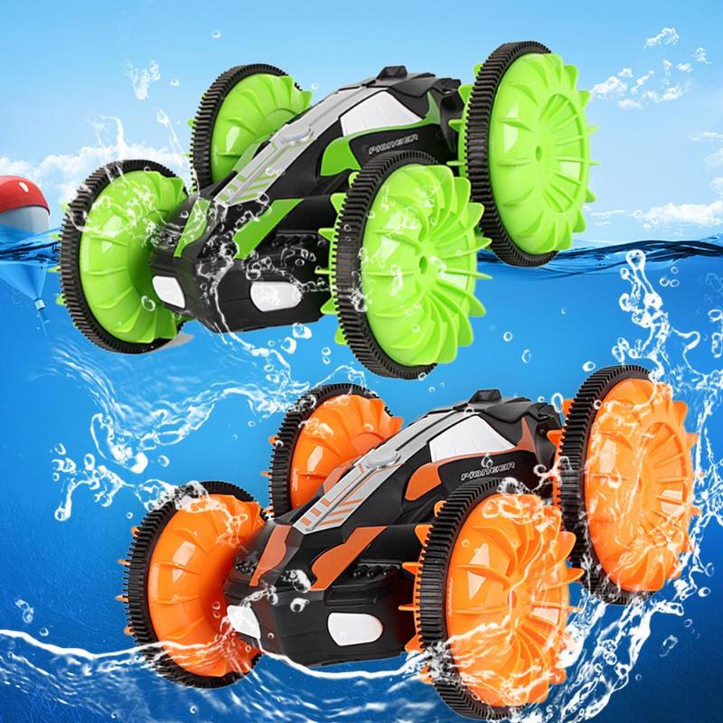 360 Degree Rotation RC Car Driving On Water and Land Crawler Roll Car Toys Rotating Stunt Toys Anti Gravity Machine Wall Racer