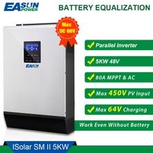 EASUN POWER 5000Wอินเวอร์เตอร์พลังงานแสงอาทิตย์5Kva 450Vdc PV 80A MPPT Parallel Inverter 48V 230V Pure Sine Waveอินเวอร์เตอร์80Aแบตเตอรี่Charger