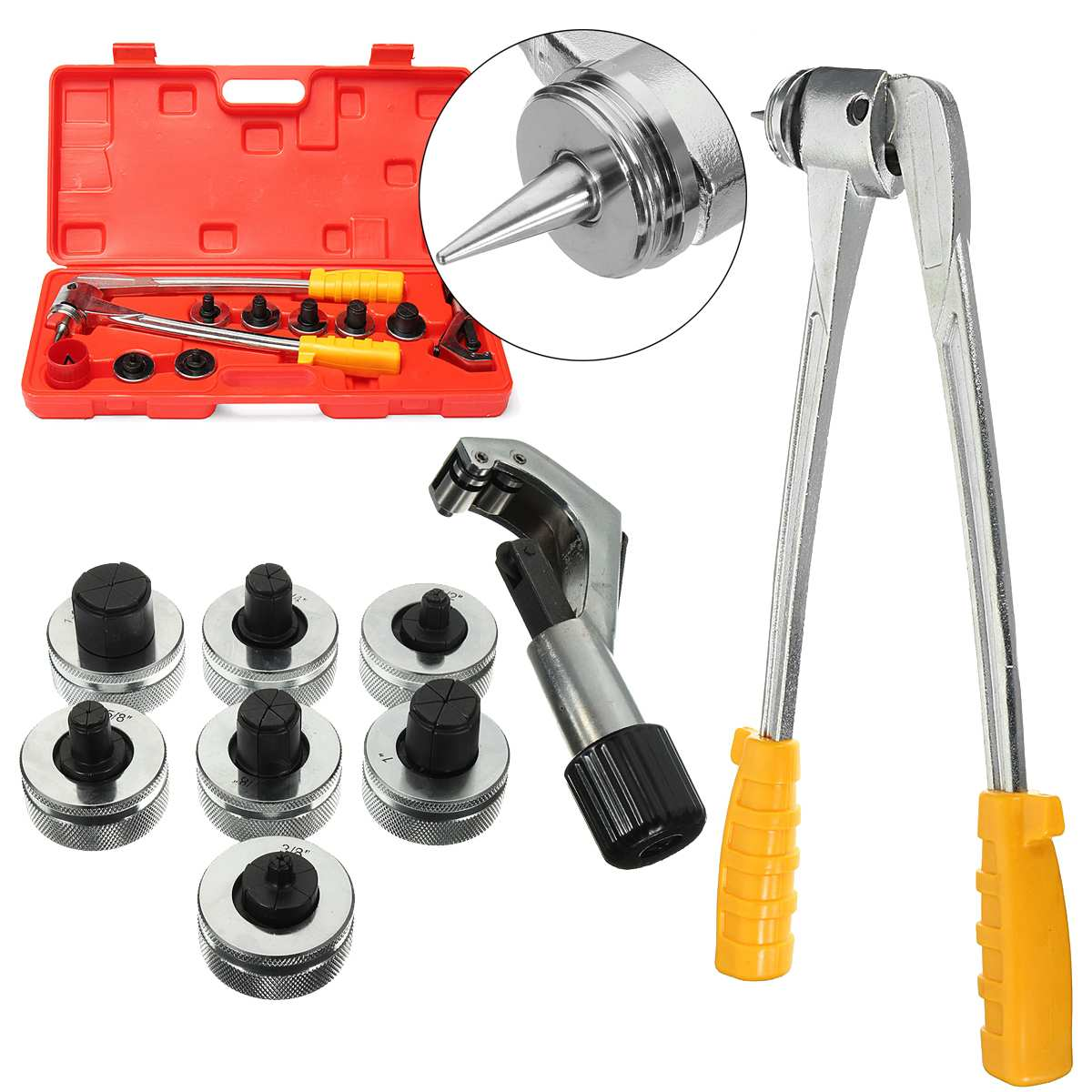 7 Lever Hydraulic Copper Tube Expander Tool Kit Pipe Expander Tube Cutter Plumbing Air Conditioner7 Lever Hydraulic Copper Tube Expander Tool Kit Pipe Expander Tube Cutter Plumbing Air Conditioner