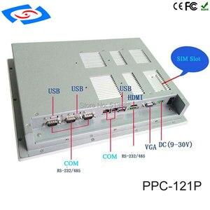 Image 5 - 12.1 pollici Fanless panel Industrial PC 4 * com dello schermo di tocco di tablet pc di supporto di windows xp/windows10 sistema