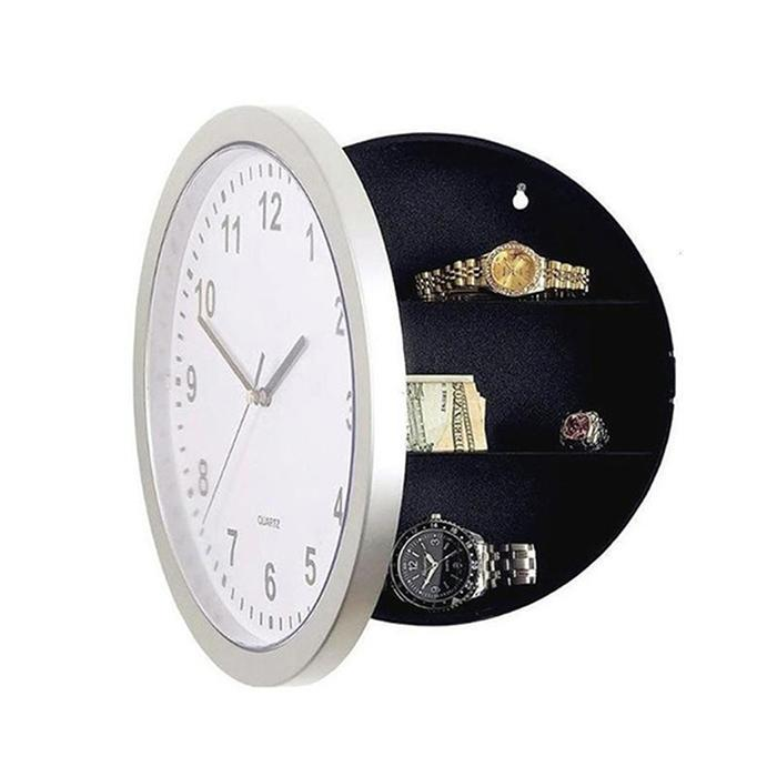 Hidden Safe Clock Stash Box Money Jewelry Round With Secret Wall Clock Compartment Stash Living Room,Home Box