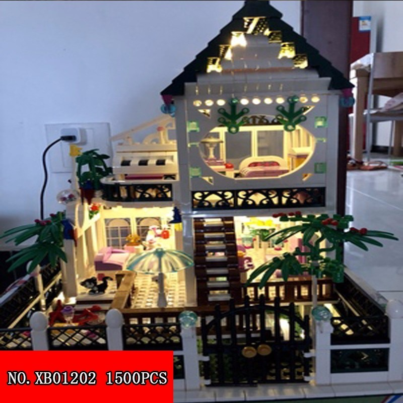 Здесь можно купить  1500pcs New XB01202 Lighting Villa Architecture Small Grain Assembling Alpinia Plastic Block Product Building Blocks  Игрушки и Хобби