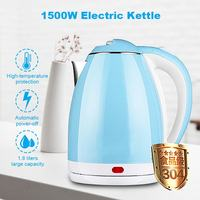 1.8L 1500W Electric Kettle Water Heater Boiler Stainless Steel Cordless Tea Kettle Fast Boil Auto Shut Off Boil Dry Protection