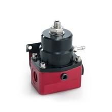 Adjustable Autos Fuel Pressure Regulator 160 PSI Gauge AN6 Fitting And NPT Gauge Port wlr racing an8 high pressure fuel regulator w boost 8an 8 8 6 efi fuel pressure regulator with gauge wlr7855