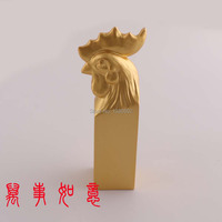 2019 HOT Fashion 18KT Pearl Gold Plated Chinese Style Chicken Seal Stamp Birthday Gift Metal Stamps