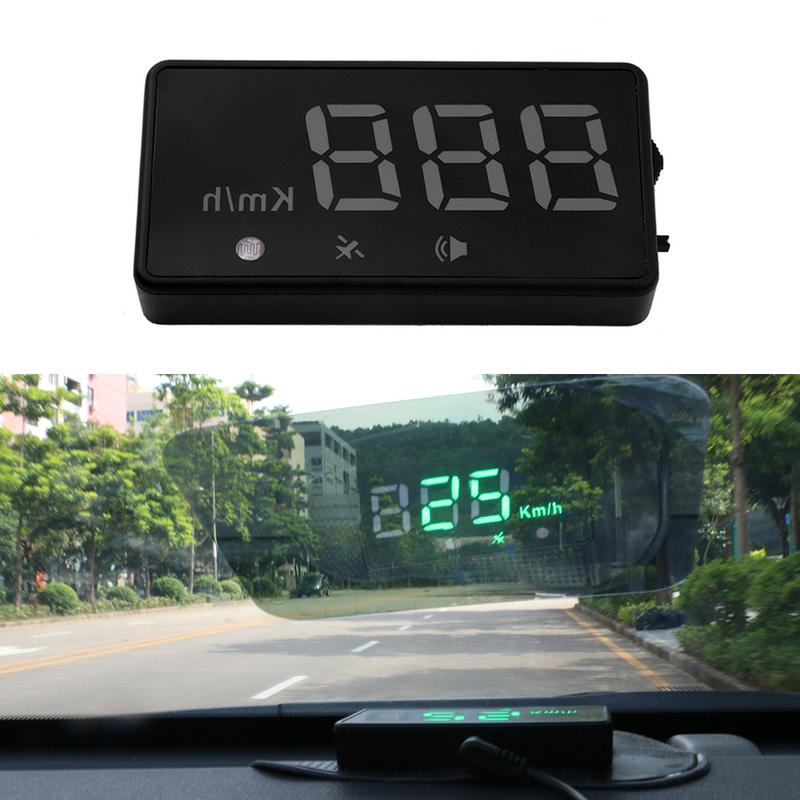 Professional Universal 12V Car HUD Head Up Display GPS Positioning Digital LED Projector Display Monitor Charger Reflective Film
