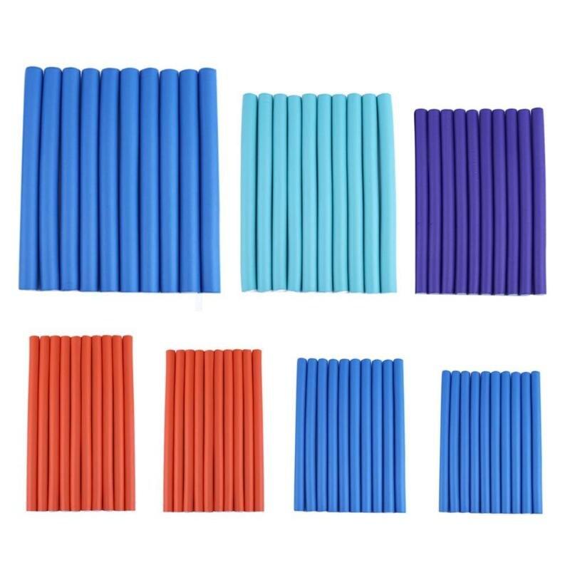 10pcs Hair Rollers Universal Rubber Mini Hair Curler Bar DIYHairdressing  Styling Hair Curler Roller Tool(Random color)
