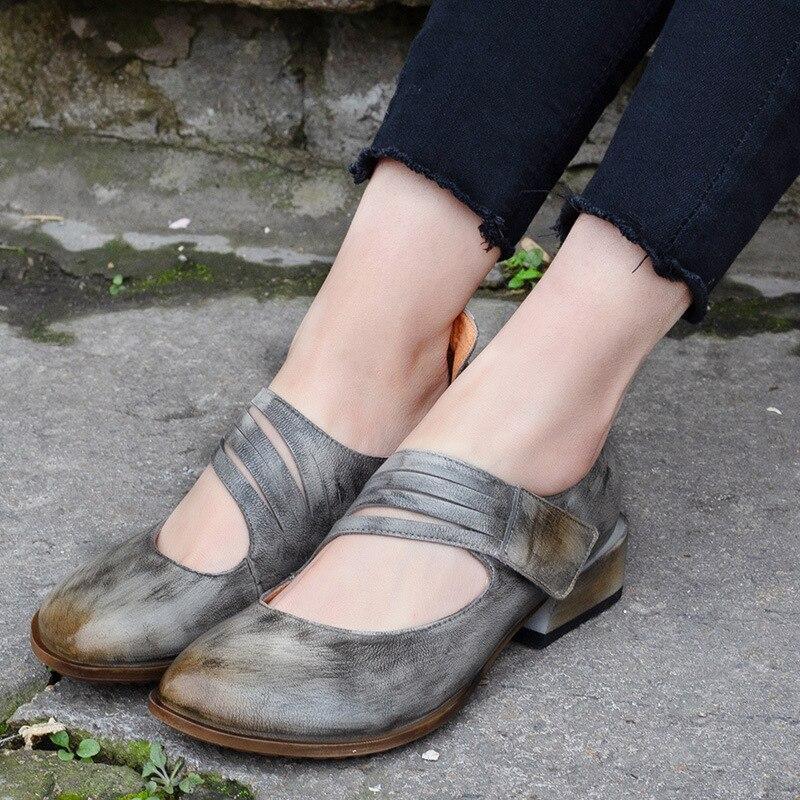 En Femelle Gris Printemps De Sangle Chaussures Talons Pompes Faible 3 Cm Cuir T Gris Femmes Mocassins rouge Été Oxfords I0wnCqH