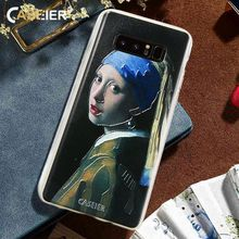 CASEIER Ultra Thin Phone Case For Samsung Galaxy S6 S7 S8 Plus Note 8 Capa Girl With A Pearl Earring Covers 3D Rlief Shell