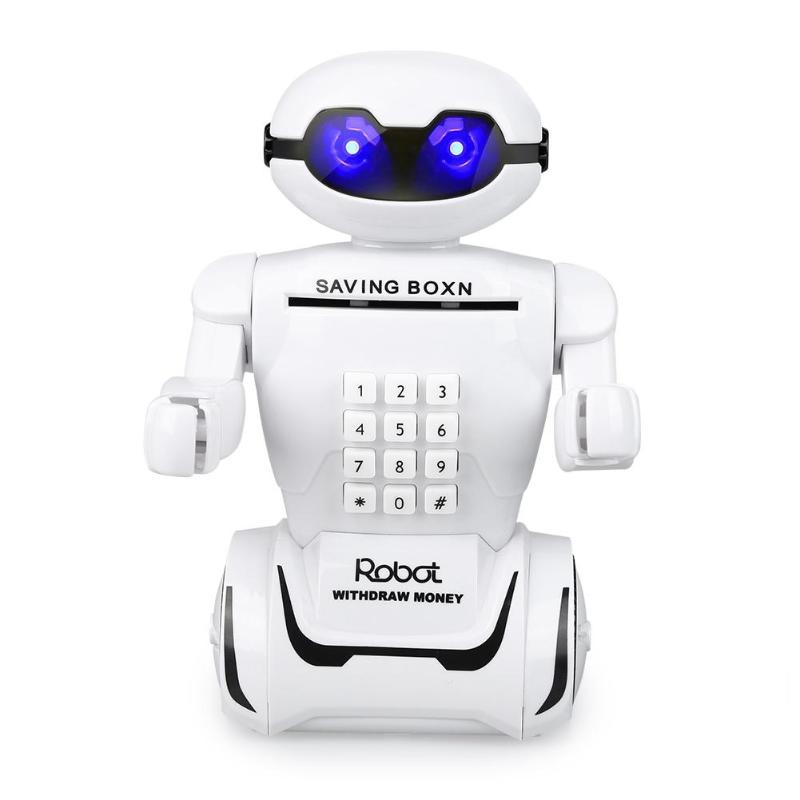 1 Stück Roboter Sicher Geld Box Automatische Stola Münze Sparschwein Usb Kabel Geld Musik Bargeld Saving Box Spardose Geschenke Kid Spielzeug Wohnkultur