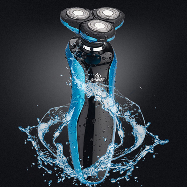 Electric Shaver Head Polish Hair Trimmer USB Rechargeable Razor Floating Waterproof Electric Shaver with Three Heads