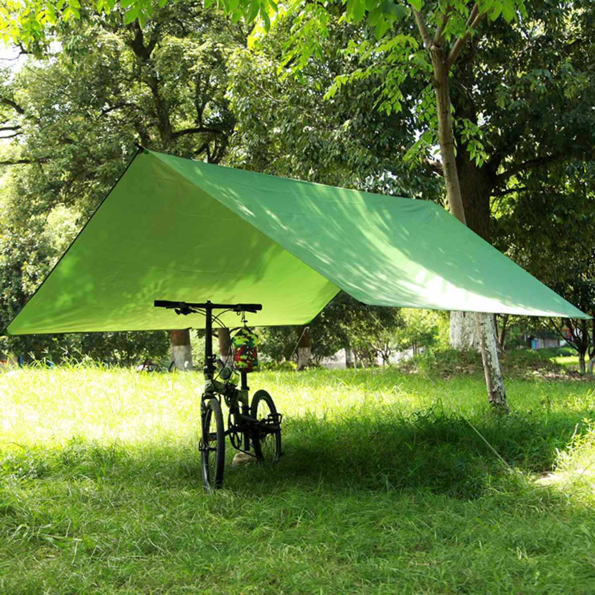 3mx3m Waterproof Sun Shelter Tarp Survival Camping Climbing Outdoor Tent Patio Sun Shade Awning Canopy Garden Tent Shade CN/RU