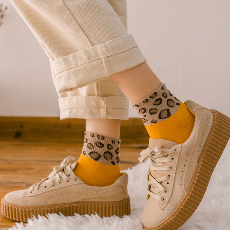 Hot Sale Leopard Women   Socks   Spring Summer Fashion Short   Socks   Cute Animal Leopard Print Ankle   Socks