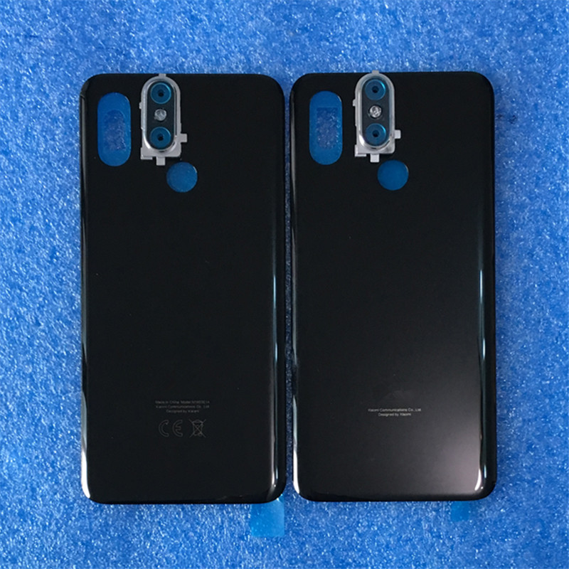 """Image 3 - Original For 6.21"""" Xiaomi 8 Mi8 MI 8 Axisinternational 3D Glass Back Battery Cover Case+Silver Camera Frame For MI8 Rear Housing-in Mobile Phone Housings & Frames from Cellphones & Telecommunications on"""