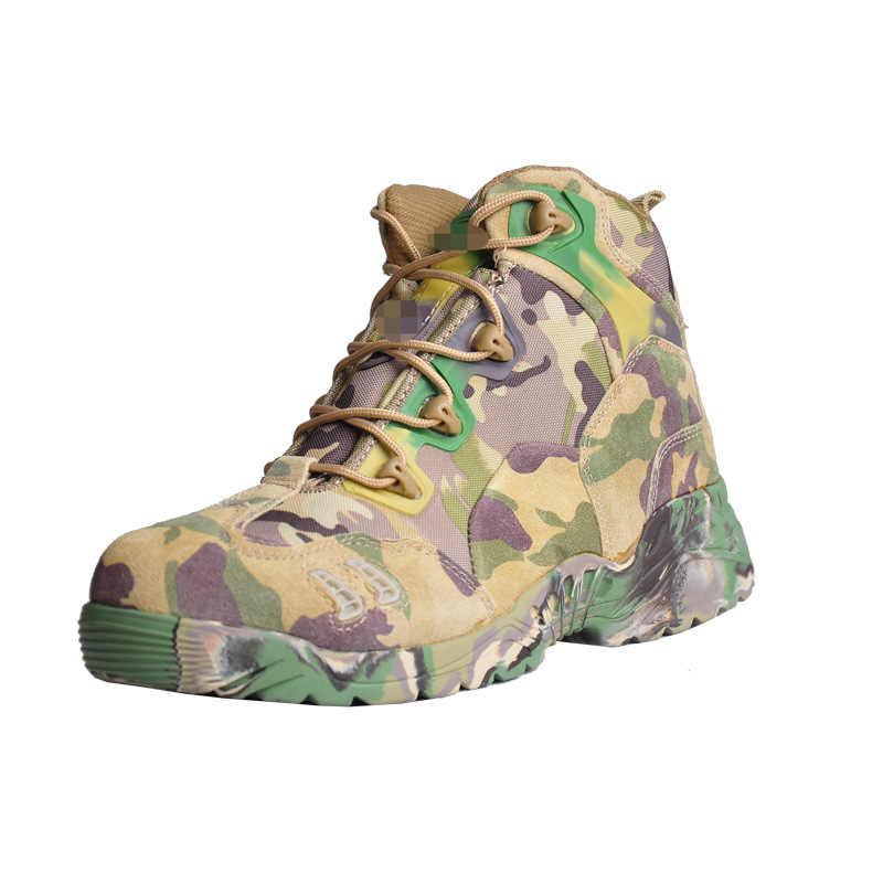 Erkekler Yürüyüş Taktik Askeri Ayakkabı Kadın Trekking Botları Nefes Spor Tırmanma Dağ Kamp Açık Yürüyüş Sneakers